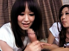 Japanese AV Model teaching naughty doll how to suck a joystick