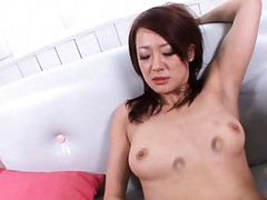 Misaki Shiraishi Hot babe fingers pussy while giving a blowjob
