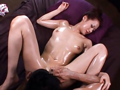 Misaki Shiraishi Hot Asian babe gets her cunt and ass licked