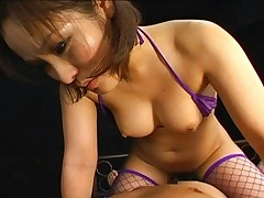 Nao Ayukawa shows off her curvy ass as she fucks her boyfriend