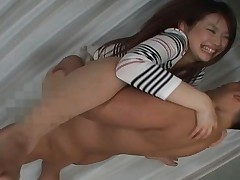 Azumi Mizushima Asian doll is getting a pussy pounding by her boyfriend