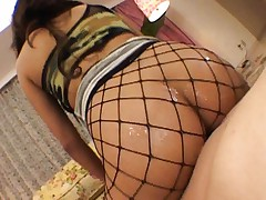 Marie Asagiri sexy babe sits on cock for masturbation close up