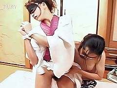 Japanese AV Model is tied up tight and gets a hard pussy pounding