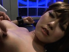 Rin Hitomi Asian with round boobs has crack fucked with finger