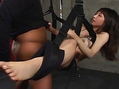 Yuka Osawa Asian chick is being enjoyed while tied up by her boyfriend