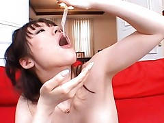 Nao Mizuki enjoys drinking a glass of cum at a party