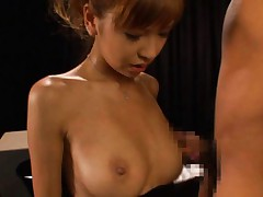 Miku Kohinata Asian busty has boners in mouth and in wet vagina