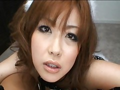Rio Hamasaki sucks cock in her sexy little bunny outfit she loves to wear