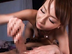 Japanese AV Model strokes tool and licks man asshole before 69