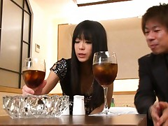 Chika Ishihara Asian is kissed and undressed after glass of wine