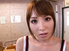 Miku Ohashi Asian has pussy and boobs touched over red uniform