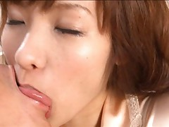 Nao Ayukawa Asian has her huge hooters so fondled out of bra