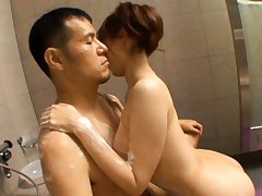 Yui Akane hot babe is nude in the shower getting a cock ride