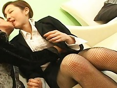 Asahi Miura Asian secretary gets felt up on a break from work