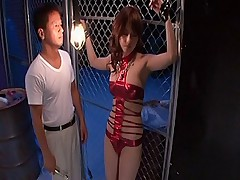 Akiho Yoshizawa hot Asian slut gets tied up for a hard pussy pounding