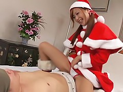 Mint Suzuki nasty santa's helper gets a hard pounding in all positions