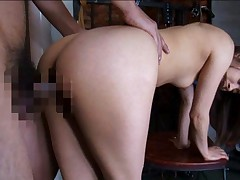 Mihiro Asian harlot with nasty butt gets peach doggy screwed