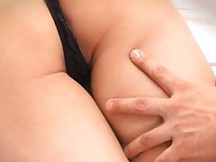 Koharu Tachibana is undressed and massaged on fine ass by dudes