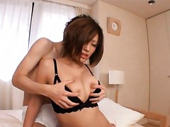 Idzumi Morino Asian has big titties fondled and kissed by hunk