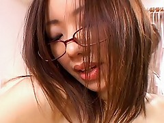 Horny Asian slut gets off by riding hard cock from the top with her boyfriend