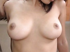 Akira Fubuki Asian has nipples sucked and twat fingered by hunk