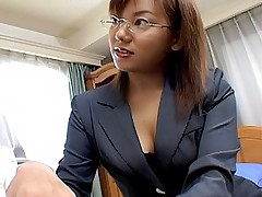 Asian slut gets her hairy pussy fucked doggy style by her friend