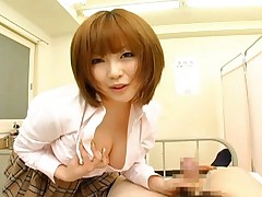 Rio Hamasaki Sexy Asian babe sucks hard cock and shows nice tits
