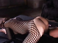 Maria Ozawa Asian in fishnet gets fucked and milk in her asshole