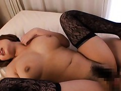 Idzumi Morino Asian with huge jugs and lace socks is fucked well