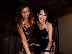 Karera Ariki Asian and chick in fancy dresses make cock so erect