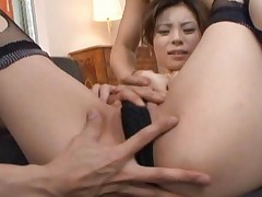Natsumi Mitsu Hot Asian babe in bondage for a hot horny threesome