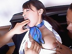 Asian slut enjoys her parties for three two cock at once and she is satisfied