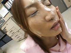 Senna Kurosaki Secretary gets face bukkake in the office on break
