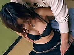 Maria Asian slut gets a hard pussy pounding from behind at a party
