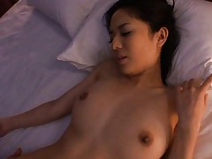 Sora Aoi Asian with big boobs and legs spread has vagina licked
