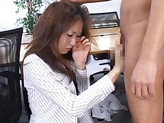 Risa Misaki Asian is scared but still sucks tool and gets nailed