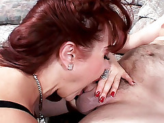 Stunning housewife Sexy Vanessa deepthroats a cock then ride it live like a cow girl