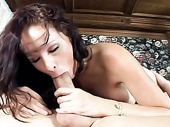 Gorgeous Gianna squeezes her big tits together getting fucked by a massive cock live