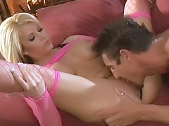 Big boobed blondie Brooke Haven gets her pussy licked and fucked by her horny fuckbuddy live