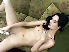 Nasty pornstar Victoria Sin shoves a sextoy in her pussy and gets butt fucked by a hard cock live