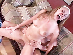 Big breasted woman Tiana Lynn live getting fucked hardcore in a sofa then on the floor