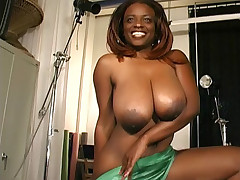 White cock screwing busty black chick Alayah Sashu and gets an explosive orgasm live