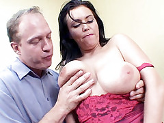 Busty Angelica Sin titty fucked first before taking a hard cock in her ass live in this scene