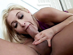 Blonde chick Heather Gables spreads her legs wide as she gets her ass fucked live on the sofa
