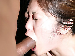 Hot oriental Kaiya Lynn gets her asian pussy drilled after giving a sensual deepthroat live