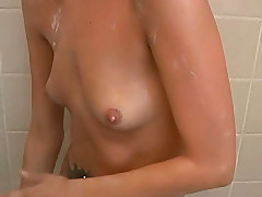 Staggering blonde with small pretty tits loves doing passionate blowjob to her guy