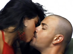 Seductive latina Alessandra sucks a thick cock and gets her slutty pussy fucked live