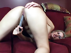 Playful chick Fayth DeLuca does a solo masturbation and later fools around with an adult toy live