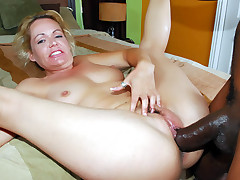 Kelly Leigh goes for an interracial fuck party and got her hairy pussy injected with a big black dong live