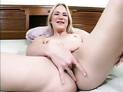 Lustful lady Aaliyah Jolie engages in nasty finger fucking and later plays with a toy live